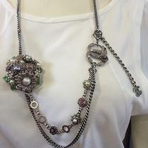 Chanel 05' Chain Link Belt/necklace W/ Cc Pendants Flower Cluster and Pearls Photo