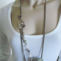 Chanel 05p Camellia Necklace Belt Made of Crystal  Enamel Pearls and Chain  Photo