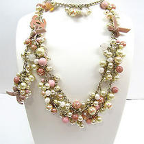 Chanel'07c Belt/necklace W/cascading Pearls Gripoix Rose Quartz & Crystal Beads  Photo
