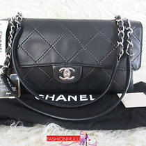 Chanel 11a Oriental Express Black Lambskin Jumbo Flap Handbag Shoulder Bag Photo