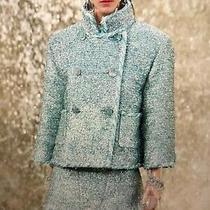 Chanel 18s New Tags  Fantasy Tweed Blue Green Silver Braided Jacket Fr40-42 9k Photo
