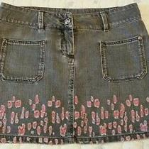 Chanel 2011 Cruise Collection Destructed Denim Mini Skirt Fr 38 Us 4 Photo