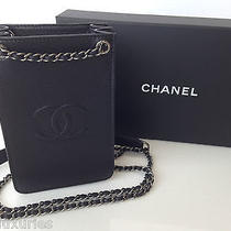 Chanel 2015 Black Cc Iphone Cell Phone Case Wallet on a Chain Woc Bag New Photo