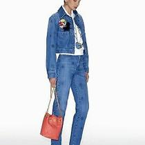 Chanel 21p Jeans Embroidered Washed Denim Blue   Size 40 Photo