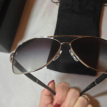 Chanel 4196-Q Aviator Sunglasses-Chrome & Quilted Black Leather Gradient Lenses Photo