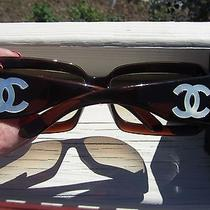 Chanel 5076-H Sunglasses Dark Brown Mother of Pearl Photo
