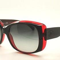 Chanel 5227h 1297/3c Mother of Pearl Red Rectangular Sunglasses Nwc Auth Cc Photo