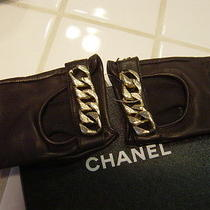 Chanel Amazing Fingerless Gloves - Soooo Chic - Chunky Chain Nwt Size 7   Photo