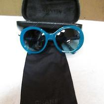 Chanel Aqua Blue Women's Sunglasses. Authentic. 5238 C1317/45 54  19 135 2n Photo
