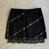 Chanel Authentic Black Skirt. Size Fr 38. Collection 03a. Rrp 2800. Excellent Photo