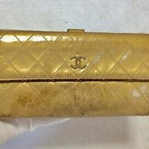Chanel Authentic Cc Logos Quilted Long  Wallet Purse  Leather  Photo
