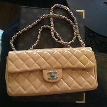 Chanel Authentic Flap Bag in Beautiful Nude Patent Leather Beige Blush Rare Photo