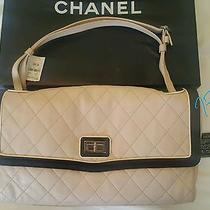 Chanel Authentic Ivory Pink Blush Leather Maxi 2.55 Purse Flap Bag New tag& Box Photo