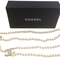Chanel Authentic Nwt Faux Pearl & Cc Logo Belt/necklace  Photo