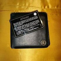 Chanel Authentic Vintage Men's Bifold Wallet - Lambskin Leather - Black Photo