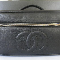 Chanel Bag Cosmetic Purse Caviar Authentic Photo