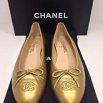 Chanel Ballerina Flats Gold Photo