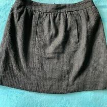 Chanel Beautiful Black Cotton Designer Mini Skirt Size 42 Uk 12  Photo