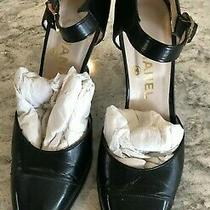 Chanel Beautiful Made in Italy Black 4 Inch High Heel Size 38 Photo