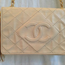 Chanel Beige Lambskin Bag Photo