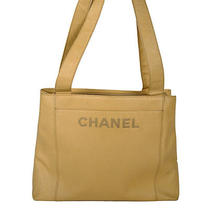 Chanel Beige Leather Tote Bag Photo