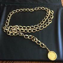 Chanel Belt Gold Gp Chain Cc Cambon Coin Coco Authentic Photo