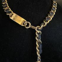 Chanel Belt Necklace /belt Rare Unique Gold Black Heavy Vintage Photo