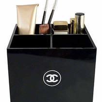 Chanel Black Acrylic Vip Vanity Box / Brush Make-Up Holder Organizer New in Box Photo