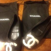 Chanel Black and White Flats. Photo