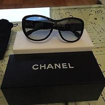 Chanel Black Aviator Blue Tweed Coco Chanel 5242 14059s Photo