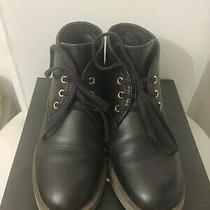 Chanel Black Calfskin Lace Up Ankle Boot  Photo