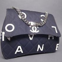 Chanel Black Coco Chanel Quilted Fabric Flap Handbag  Photo