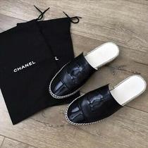 Chanel Black Espadrilles Mules Size 39 Photo