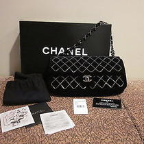 Chanel Black Handbag Purse Shoulder Bag Sac Class Deriv  Photo