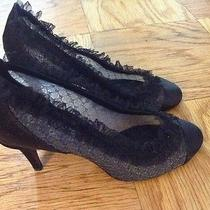 Chanel Black Lace Pump  Photo