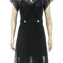 Chanel Black Lace Wrap Dress (Size 36) Photo