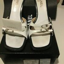 Chanel Black Mules Sandals Size 41.5 Photo