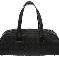 Chanel Black Nylon Satchel Handbag Photo