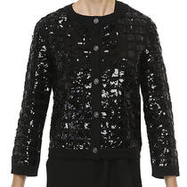 Chanel Black on Black Cashmere Cardigan With Sequins Photo