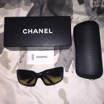 Chanel Black Plastic Mother of Pearl Sunglasses 5076-H New Rare Sold Out Photo