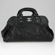 Chanel Black Quilted Caviar Leather Outdoor Ligne Tote Bag Photo