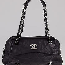 Chanel Black Quilted Lambskin Leather Cc Camera Case Bag Photo