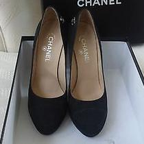 Chanel  Black  Suede Heels Photo