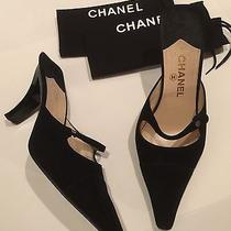Chanel Black Suede Mules Photo