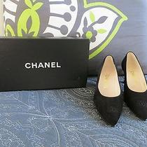 Chanel Black Suede Women's Shoes (7b) - Never Worn Photo