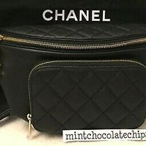 Chanel Black Waist Bag Gold Hardware Fanny Pack Travel Bum Bag Sold Out Bnwt  Photo