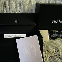 Chanel Black Wallet / Clutch New in Box Large Classic Flap Long  Photo