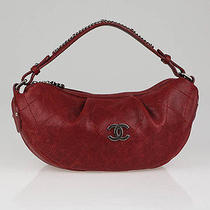 Chanel Bordeaux Caviar Leather Outdoor Ligne Small Hobo Bag Photo