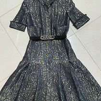 Chanel Brocade Black Gold Shirt Dress Camellia Print in Fr36 Fits Uk 6/8 Photo