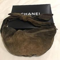 Chanel Brown Suede Hobo Bag Pocketbook Photo